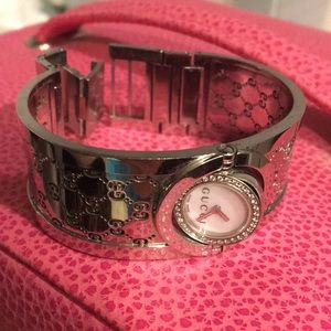 Gucci Twirl Watch Bangle Bracelet diamond
